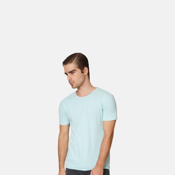 Eko t-shirts i melerade färger med reklamtryck