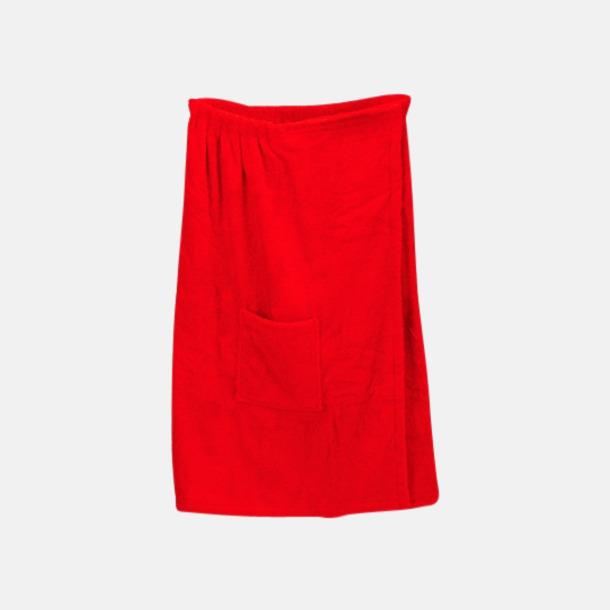 Fire Red (dam) Färgglada bastukiltar meed kardborre - med reklamlogo