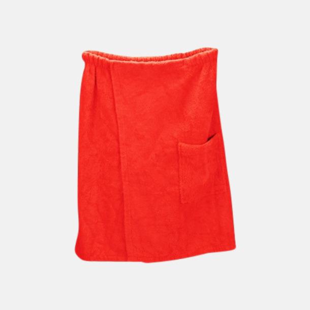 Fire Red (herr) Färgglada bastukiltar meed kardborre - med reklamlogo