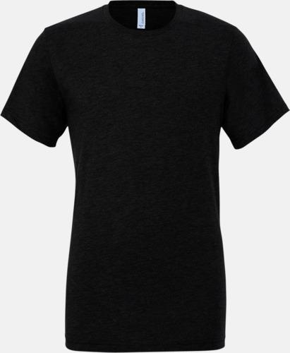 Solid Black Triblend (unisex) T-shirts för vuxna & barn - med reklamtryck