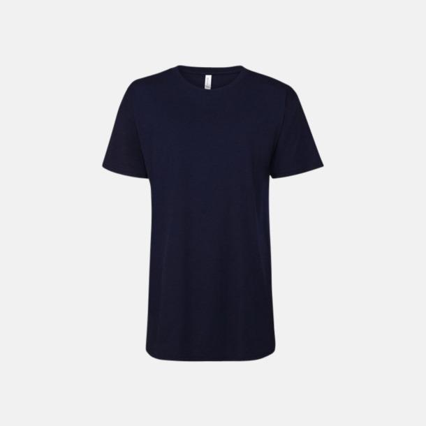 Marinblå Längre herr t-shirts med reklamtryck