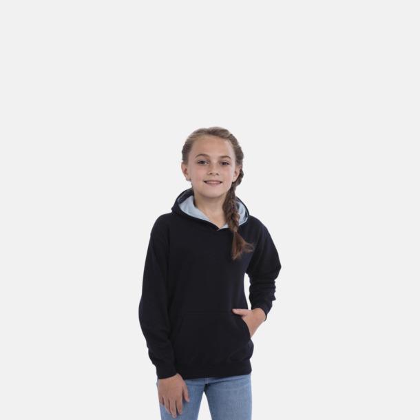Varsity Hoodie Contrast i barnmodell med reklamtryck