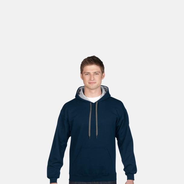 Tvåfärgade huvtröjor med reklamtryck