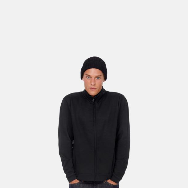 Unisex zip sweatshirts med reklamtryck