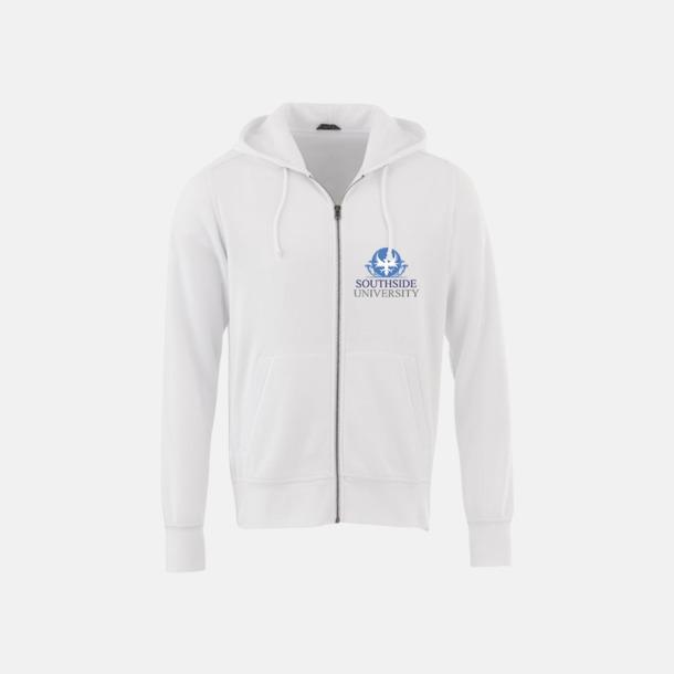 Blixtlåsförsedda hoodies med reklamtryck