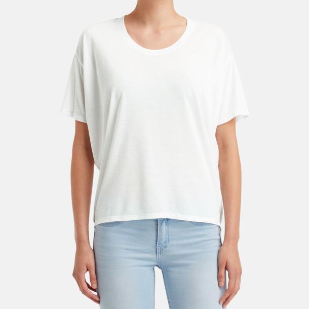 Dam t-shirts med lös passform med reklamtryck