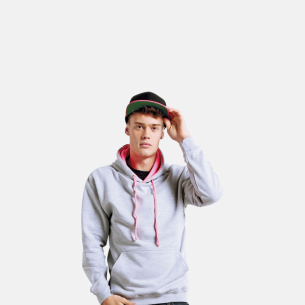 Huvtröjor med kontrastfärger - med tryck