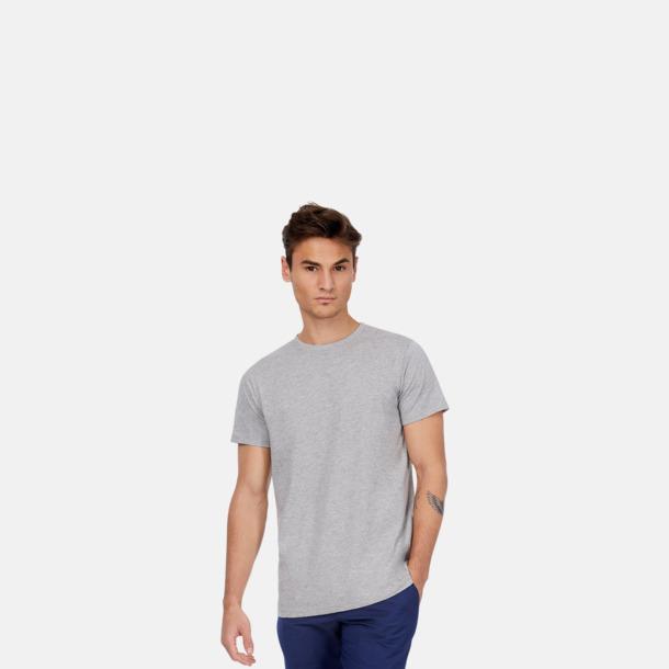 Neutrala eko t-shirts i lite tjockare kvalitet med reklamtryck