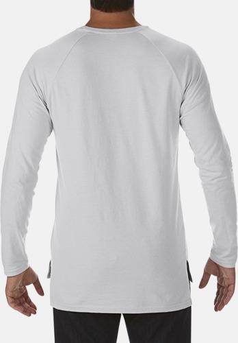Långärmade lightweight t-shirts med reklamtryck