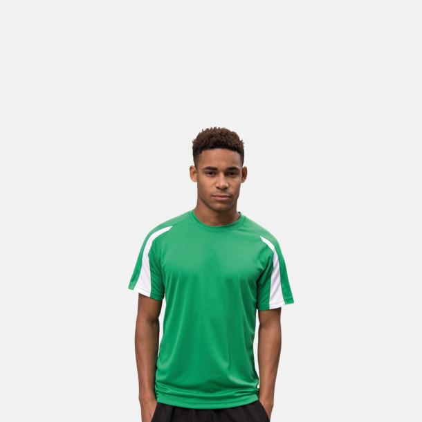 Tvåfärgade sport t-shirts för barn & vuxna - med reklamtryck