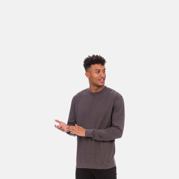 Retro sweatshirts med reklamtryck