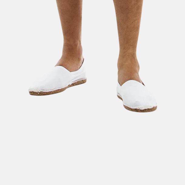 Sandaler i herr- och dammodell med reklamtryck