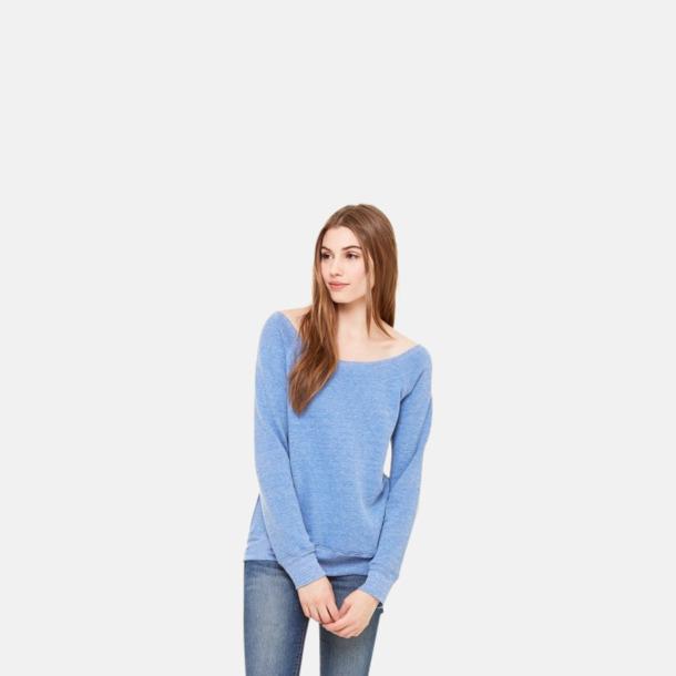 Spräckliga damtröjor med vid halsöppning - med reklamtryck