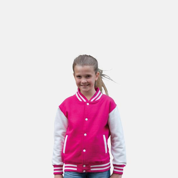 Trendiga varsity-jackor för barn - med reklamtryck