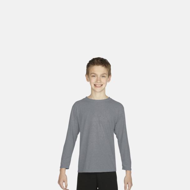 Långärmade funktionströjor för vuxna och barn med reklamtryck