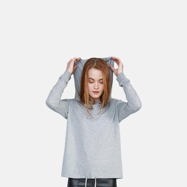 Lössittande t-shirt med huva - med reklamtryck