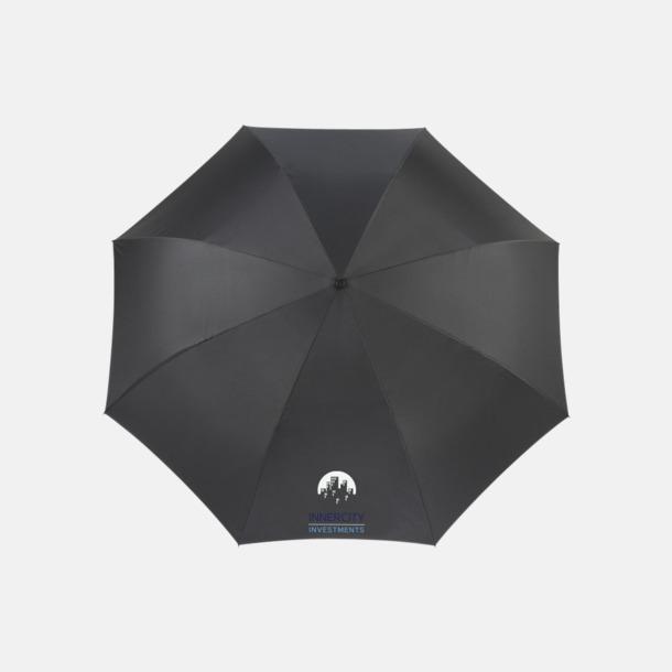 Med reklamlogo Vändbara paraplyer med reklamtryck