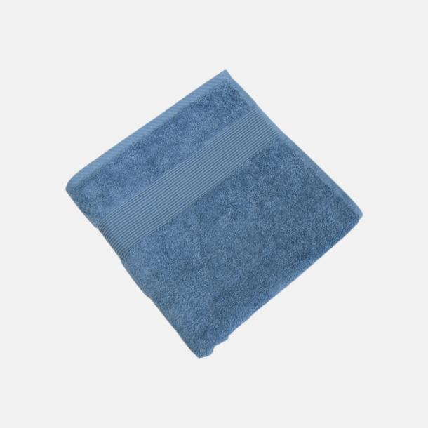 Provence Blue Fina handdukar i 4 storlekar med reklamlogo