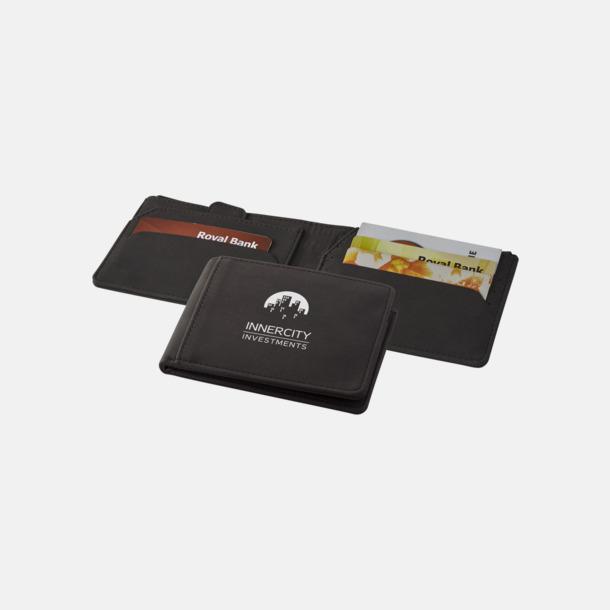 Med reklamlogo RFID-plånböcker i konstläder med reklamtryck