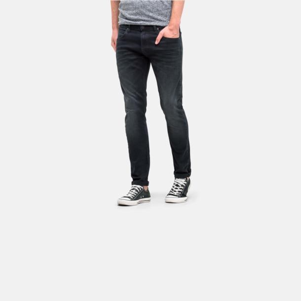 Avsmalnande Lee jeans med reklamlogo