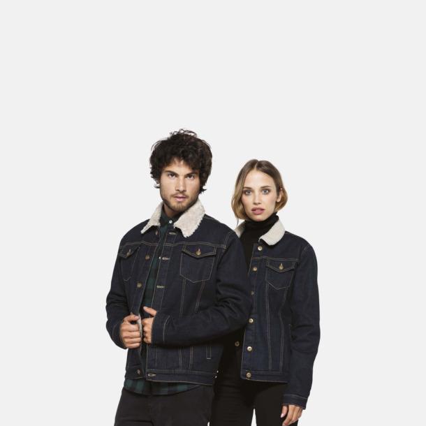 Fodrade jeansjackor med reklamtryck