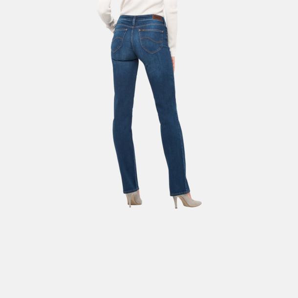 Raka dam Lee-jeans med reklamlogo