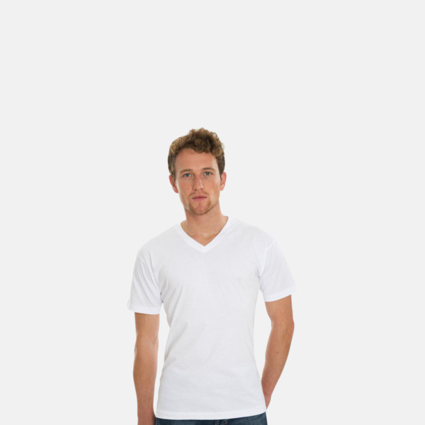 V-ringade eko t-shirts med reklamtryck