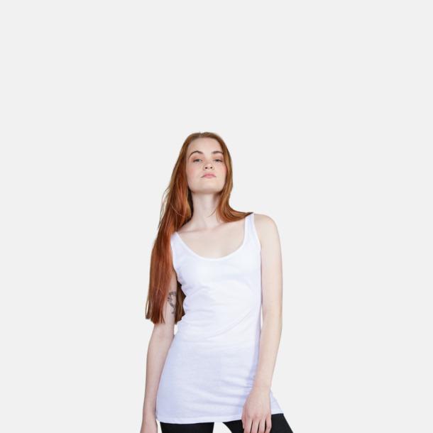 Långa linnen i dammodell med reklamtryck