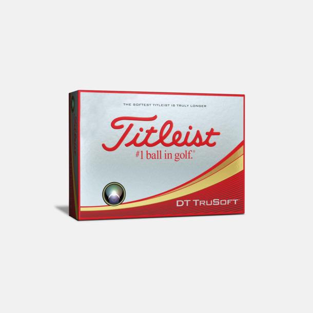 Kartong Titleist DT TruSoft golfbollar med reklamtryck