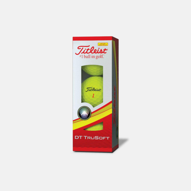 Ask (gula bollar)  Titleist DT TruSoft golfbollar med reklamtryck