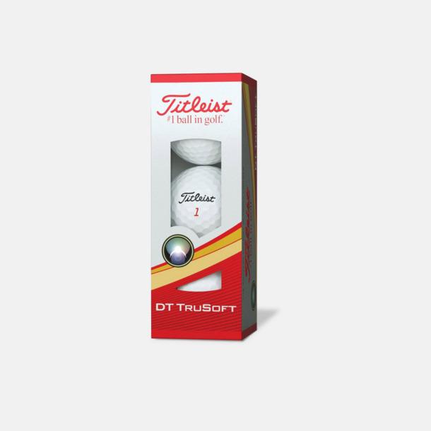 Ask (vita bollar) Titleist DT TruSoft golfbollar med reklamtryck