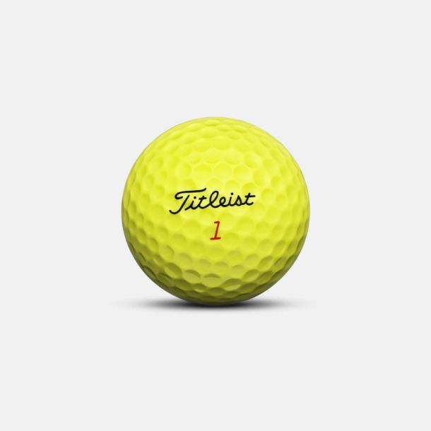 Gul Titleist DT TruSoft golfbollar med reklamtryck