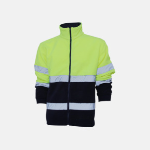 Säkerhetsjackor i fleece - med reklamtryck