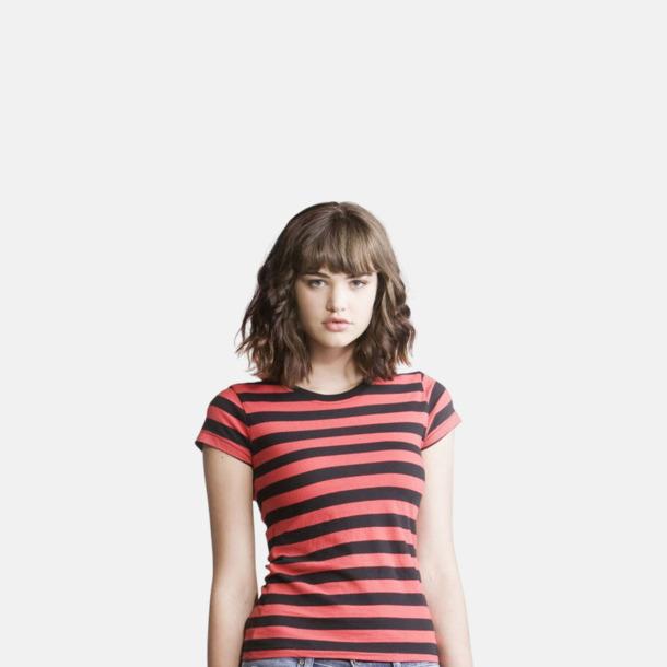 Randiga t-shirts i herr-, dam- och barnmodell med reklamtryck