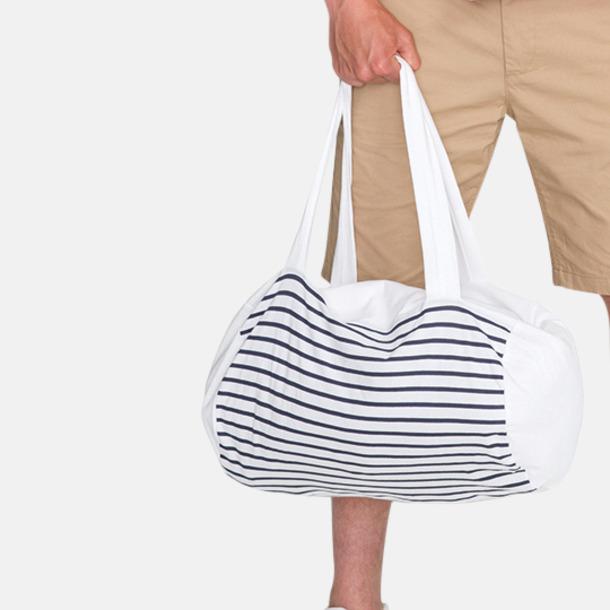 Randiga väskor med reklamtryck