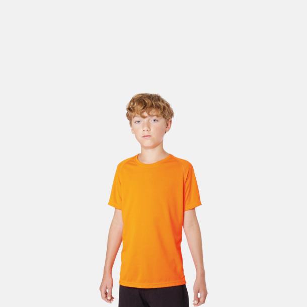 Funktions t-shirts i många färger för barn - med reklamtryck