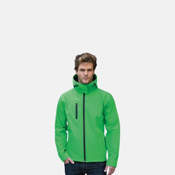Hooded softshell-jackor i herr- & dammodell med reklamtryck