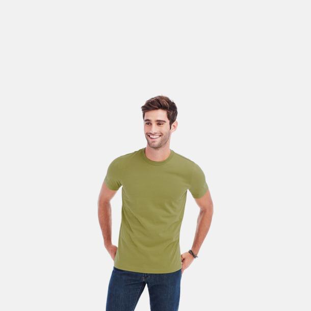 Crew-neck herrmodell i earth green Ekologiska t-shirts i flera modeller och många färger - med reklamtryck