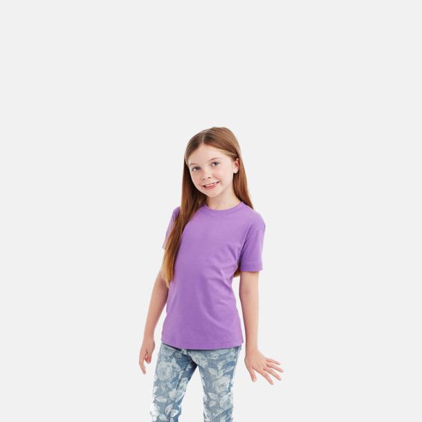 Crew-neck barnmodell i lavender purple Ekologiska t-shirts i flera modeller och många färger - med reklamtryck