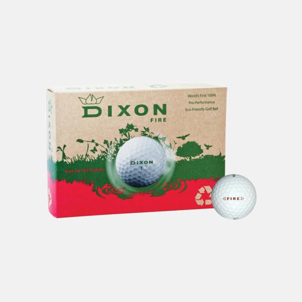 Vita golfbollar Dixon Fire - Tourboll med tryck