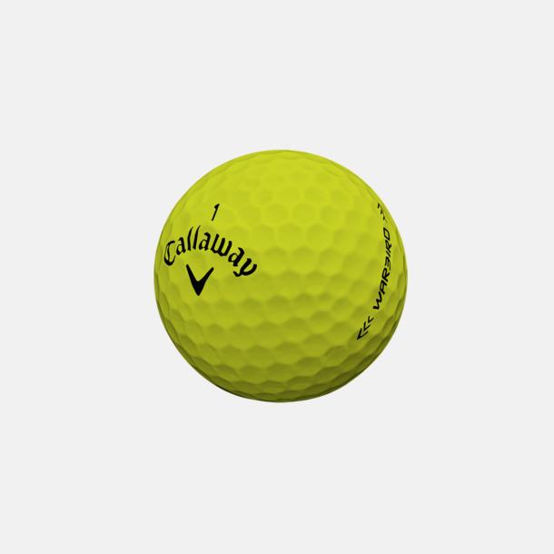 Gul Billiga Callaway-logobollar med reklamtryck