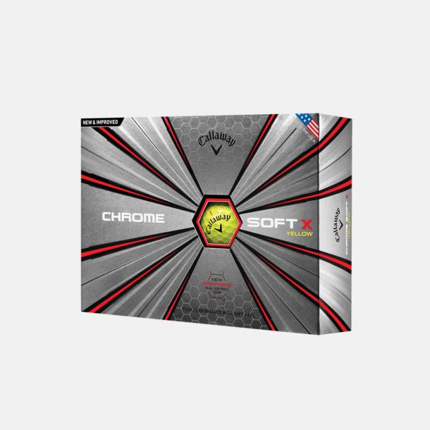 Kartong (gul boll) Callaways Chrome soft i ny tolkning