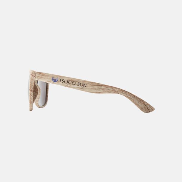 Med reklamlogo Plastsolglasögon med träliknande finish - med reklamtryck