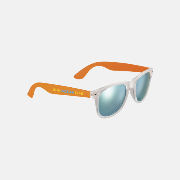 Med reklamlogo Solglasögon med spegellinser - med reklamtryck