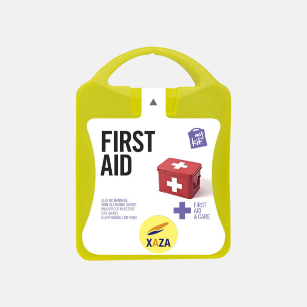 Med reklamlogo Första hjälpen-kit med reklamtryck