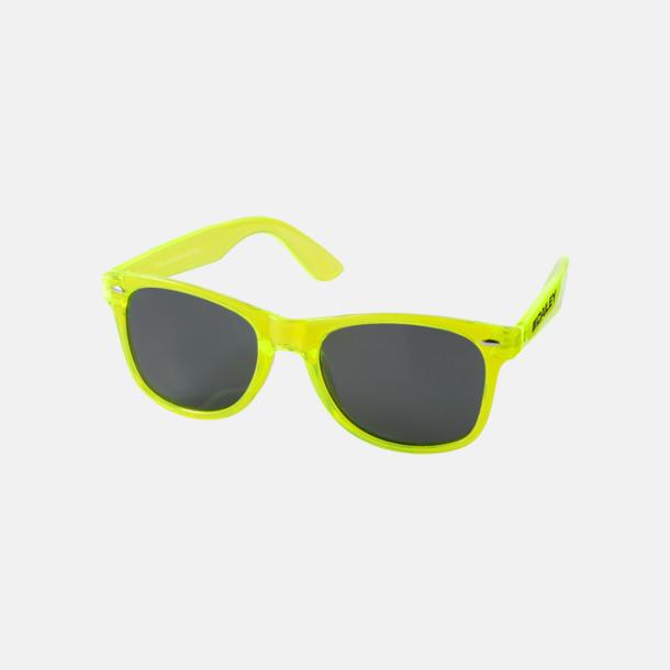 Med reklamlogo Solglasögon i transparenta färger med reklamtryck