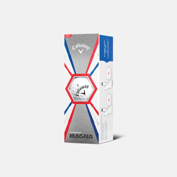 Ask (vita bollar) Logobollar från Callaway med eget reklamtryck