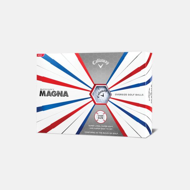 Kartong (vita bollar) Logobollar från Callaway med eget reklamtryck