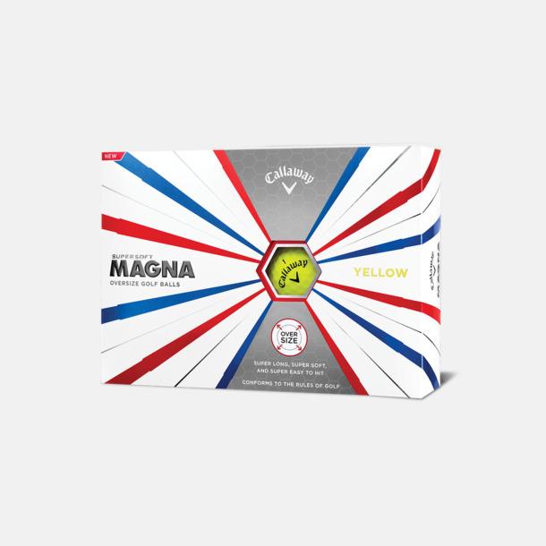 Kartong (gula bollar) Logobollar från Callaway med eget reklamtryck
