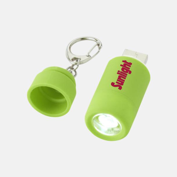 Med reklamlogo Laddningsbara ficklampor med USB-nyckel